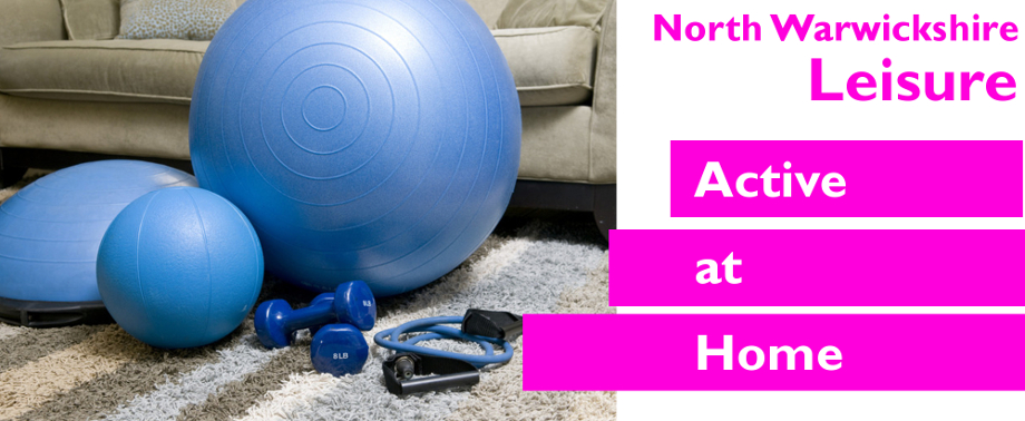 Active at home banner image with equipment