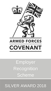 Armed Forces Covenant Employer Recognition Scheme Silver Award 2018
