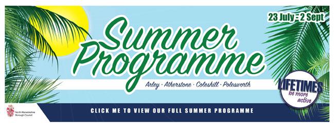 Summer programme web banner