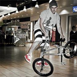 Pro BMX rider