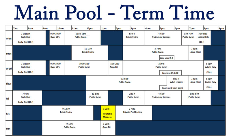 Main pool term time