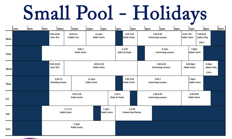 Small pool holidays