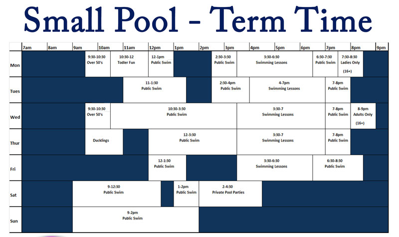 Small pool term time